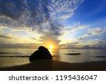 landscape bali beach | Shutterstock . vector #1195436047
