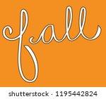 happy fall lettering | Shutterstock . vector #1195442824