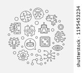 future round vector minimal... | Shutterstock .eps vector #1195453234