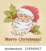 christmas hand drawn retro... | Shutterstock .eps vector #119545417