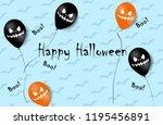 halloween banner with halloween ... | Shutterstock . vector #1195456891