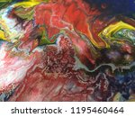 abstract art acrylic painting... | Shutterstock . vector #1195460464