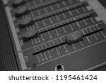 mixers mixing console audio...   Shutterstock . vector #1195461424