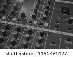 mixers mixing console audio...   Shutterstock . vector #1195461427