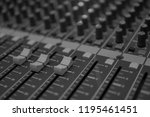 mixers mixing console audio...   Shutterstock . vector #1195461451
