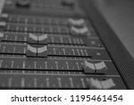 mixers mixing console audio...   Shutterstock . vector #1195461454