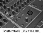 mixers mixing console audio...   Shutterstock . vector #1195461481