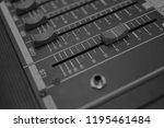 mixers mixing console audio...   Shutterstock . vector #1195461484