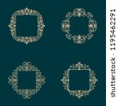 a set of vintage frames and... | Shutterstock .eps vector #1195462291