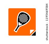racket sport symbol   Shutterstock .eps vector #1195469584