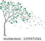 beautiful tree branch with... | Shutterstock .eps vector #1195471561