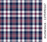 navy and white tartan plaid...   Shutterstock .eps vector #1195490167