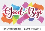 good bye with abstract... | Shutterstock .eps vector #1195496047