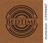 bedtime retro wood emblem | Shutterstock .eps vector #1195496407