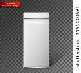 vector object. white square tin ... | Shutterstock .eps vector #1195500691
