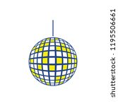 party disco sphere icon. thin... | Shutterstock .eps vector #1195506661