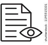 eye over paper sheet showing...   Shutterstock .eps vector #1195515331
