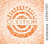 question abstract orange mosaic ... | Shutterstock .eps vector #1195517557