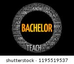 bachelor word cloud collage ... | Shutterstock .eps vector #1195519537