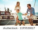 happy family having fun ...   Shutterstock . vector #1195520017