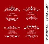 set of christmas badge design... | Shutterstock .eps vector #1195522354