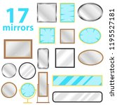 mirror  a set of mirrors.... | Shutterstock .eps vector #1195527181