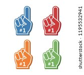 icon fan logo hand with finger... | Shutterstock .eps vector #1195532941