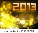 2013 happy new year. eps 10. | Shutterstock .eps vector #119553631