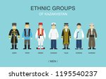ethnic groups of kazakhstan.... | Shutterstock .eps vector #1195540237