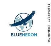 Flying Heron Logo Vector
