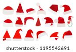 vector isolated santa claus hat ... | Shutterstock .eps vector #1195542691