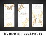 invitation templates. cover... | Shutterstock .eps vector #1195545751