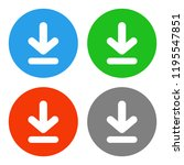 download button. save symbol.... | Shutterstock .eps vector #1195547851