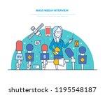 mass media interview. live... | Shutterstock . vector #1195548187