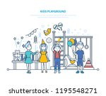 kids playground concept. little ... | Shutterstock . vector #1195548271