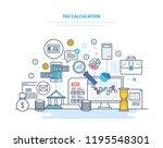 tax calculation concept.... | Shutterstock . vector #1195548301