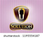 shiny emblem with dead man in... | Shutterstock .eps vector #1195554187