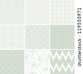 set of nine abstract geometric... | Shutterstock .eps vector #119555971
