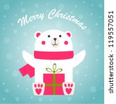 christmas greeting card with... | Shutterstock .eps vector #119557051