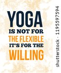 yoga quote poster motivational... | Shutterstock .eps vector #1195597594