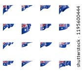 australia flag  vector... | Shutterstock .eps vector #1195600444