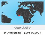 an illustrated country shape of ... | Shutterstock .eps vector #1195601974