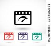 speedometer  vector icon | Shutterstock .eps vector #1195602991