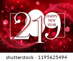 2019 happy new year background | Shutterstock .eps vector #1195625494