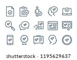 checkmark and quality line...   Shutterstock .eps vector #1195629637