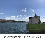golden horn with ships and... | Shutterstock . vector #1195631371