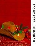 Cowboy Christmas.american West...
