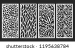 decorative wall panels set | Shutterstock .eps vector #1195638784