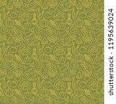 fresh vegetables seamless... | Shutterstock .eps vector #1195639024