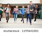group of high school students... | Shutterstock . vector #1195641001